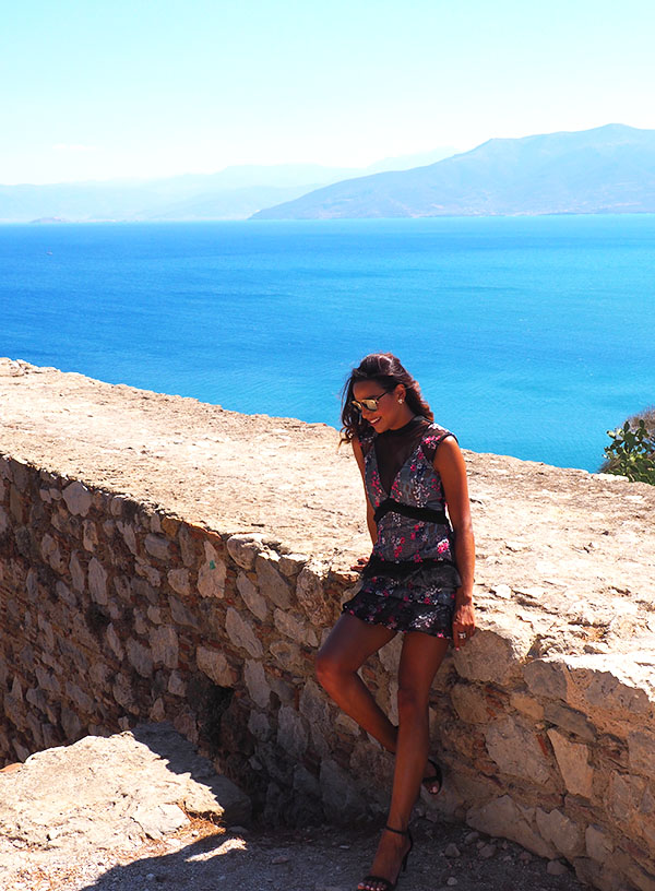 Self Portrait Dress in Greece