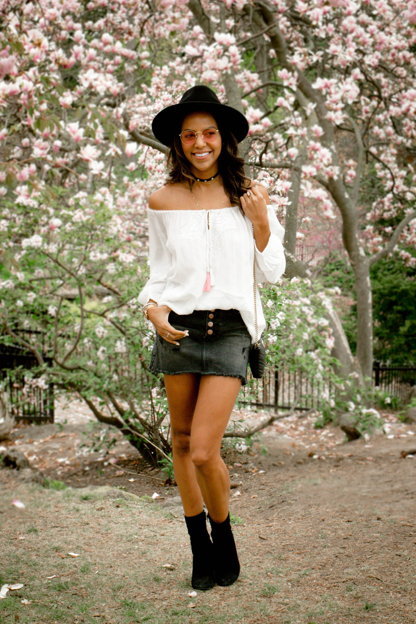 A Must Have Summer Staple: Distressed Denim Skirt