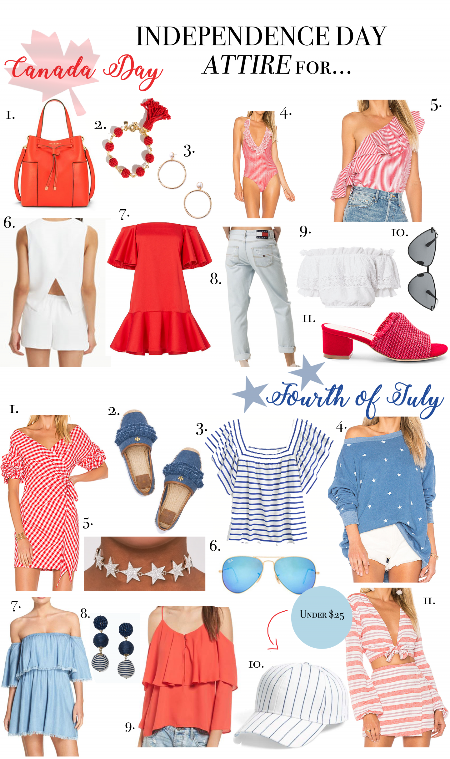 What to Wear for the Fourth of July and Canada Day