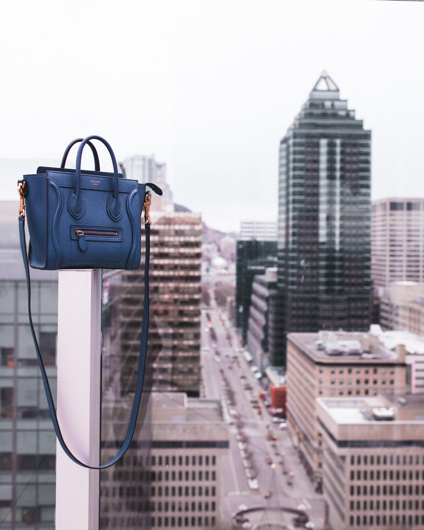 blue Celine cross body bag