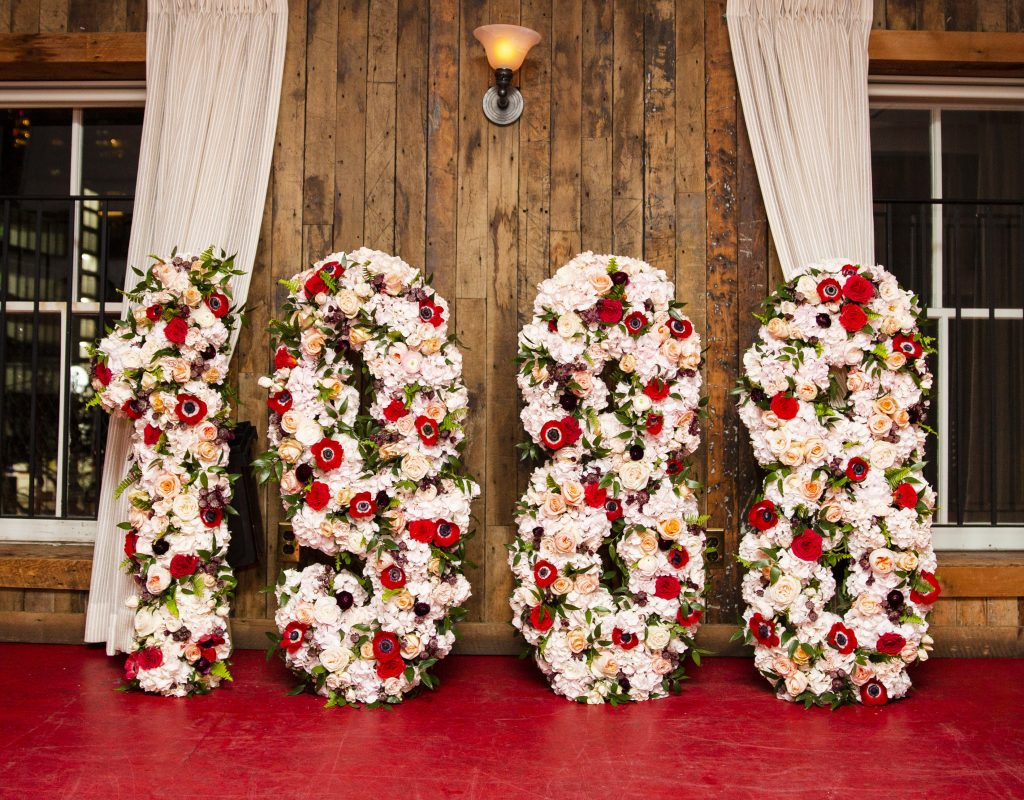 customized floral decor