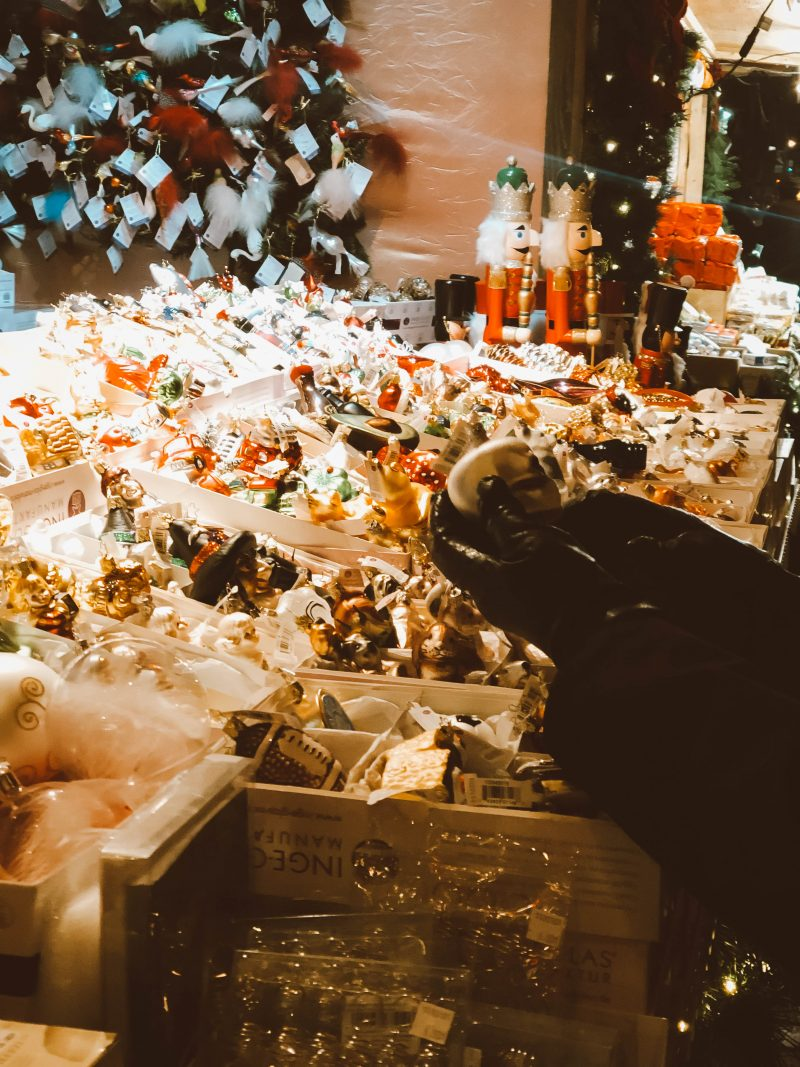 christmas ornaments at the toronto Christmas market