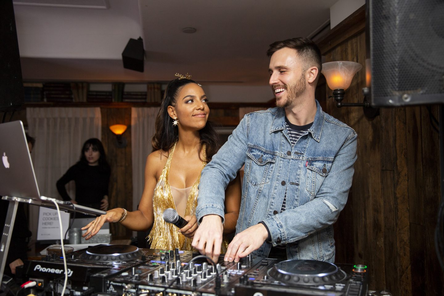 Conor Cutz djs an event at soho house