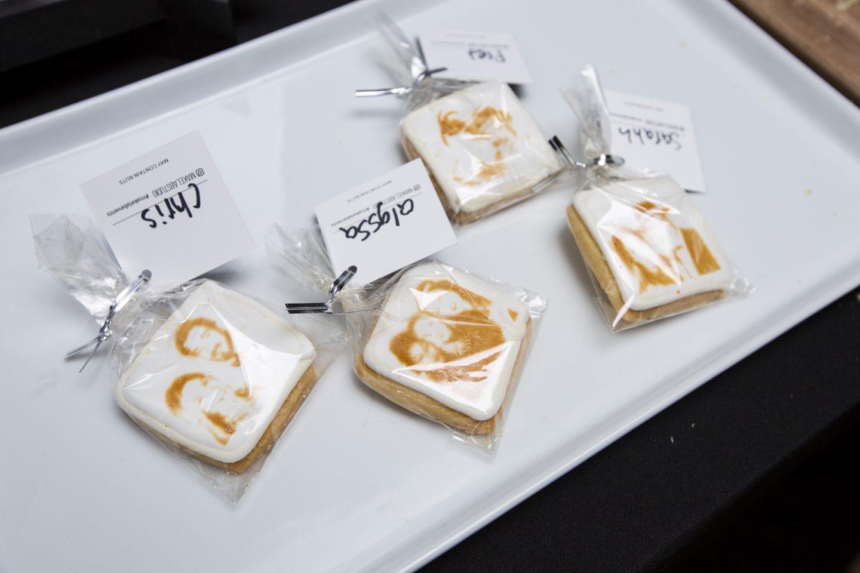 customized laser selfie cookies