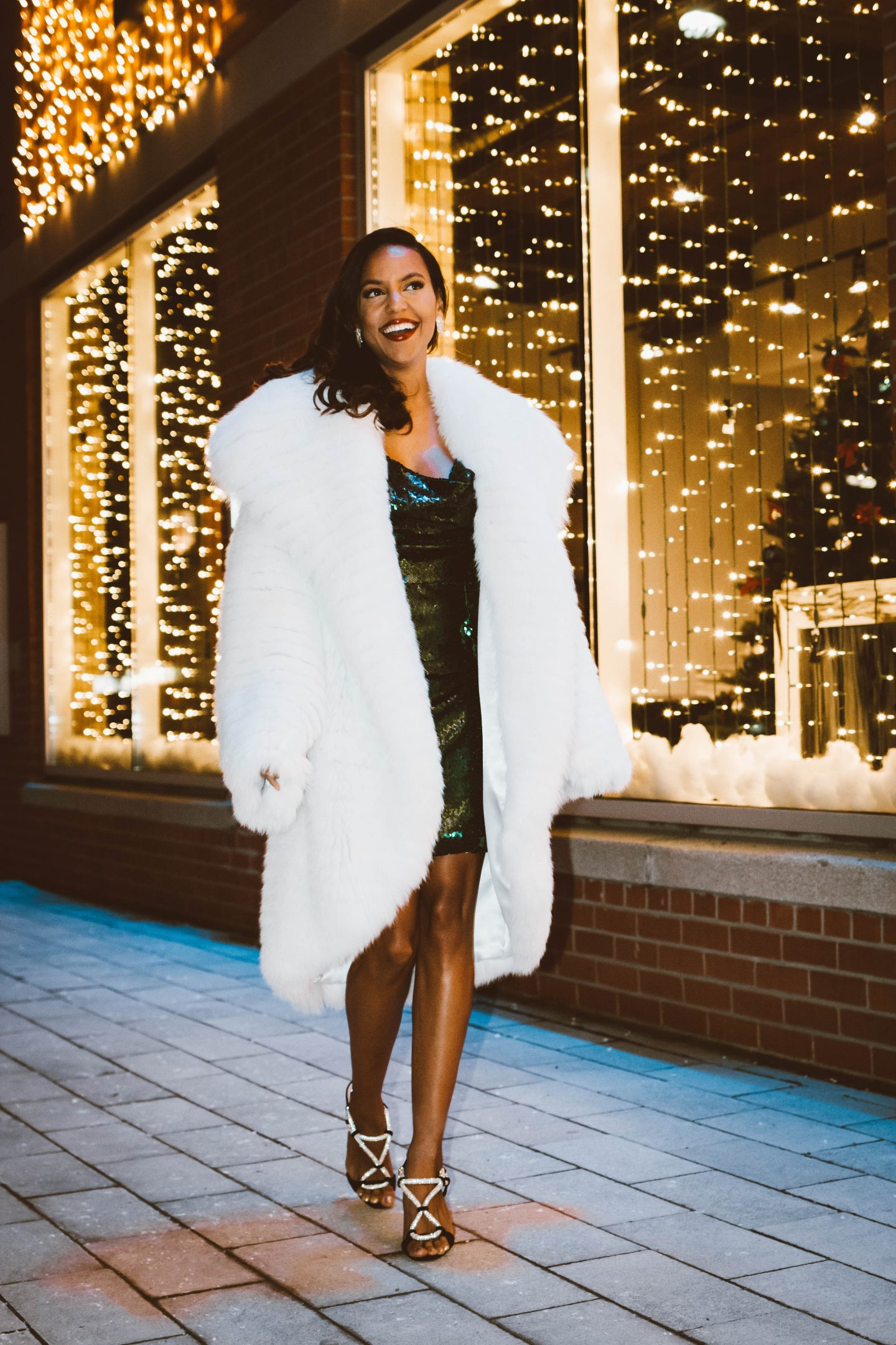 toronto fashion blogger wearing a holiday party look