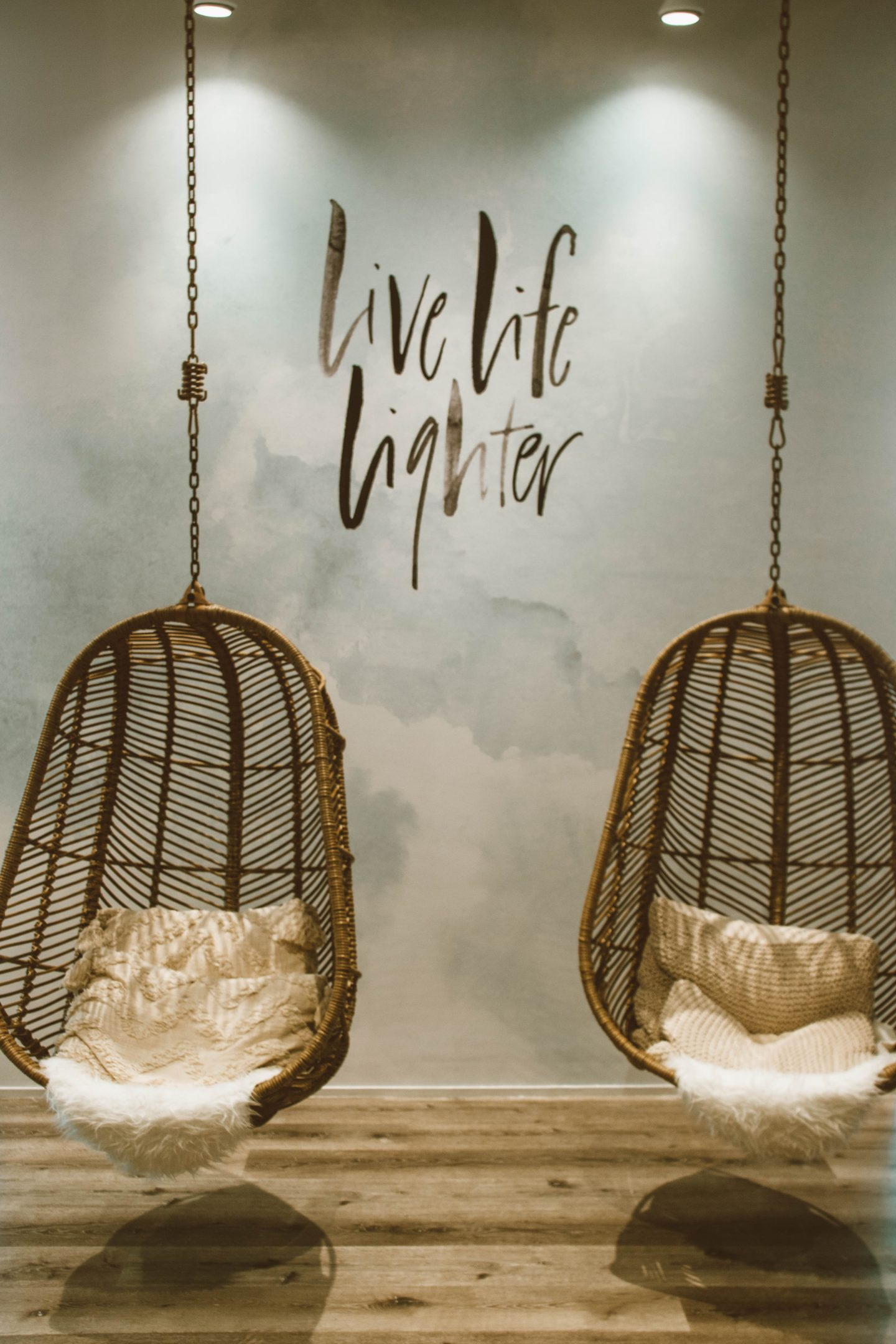 straw hanging chairs