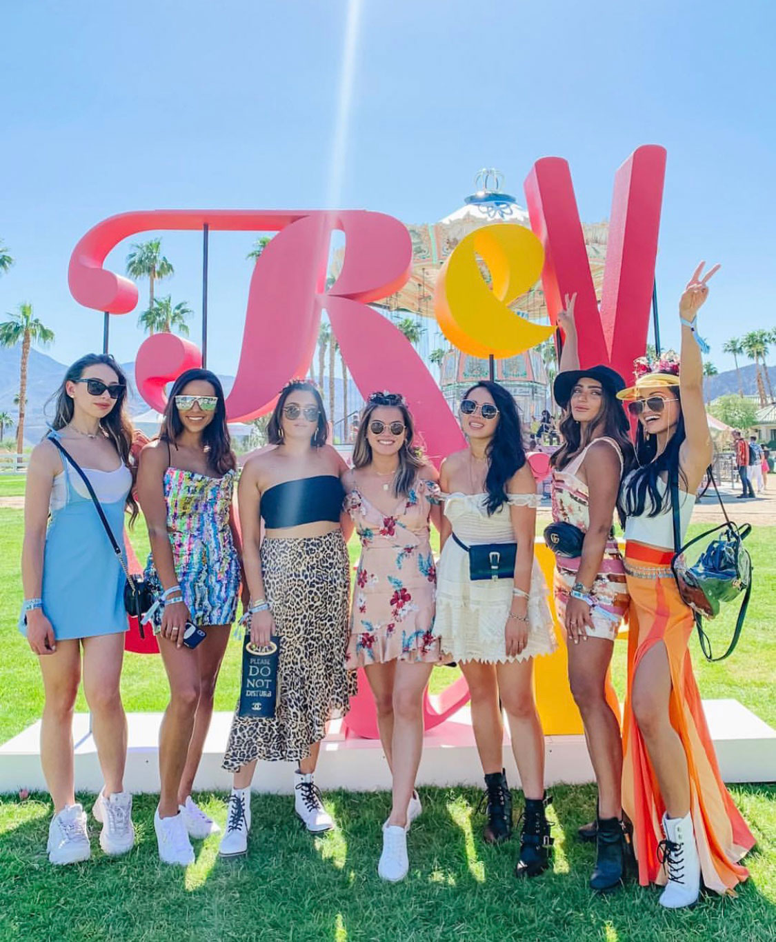 influencers at the 2019 revolve festival