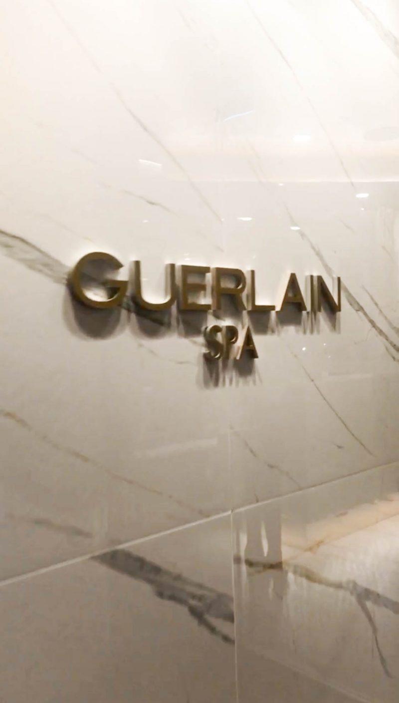 guerlain spa entry at hotel x