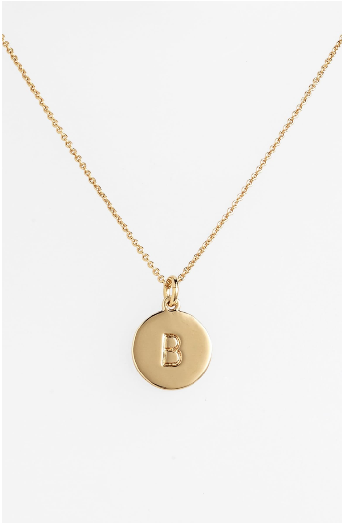 17. Kate Spade Initial Necklace