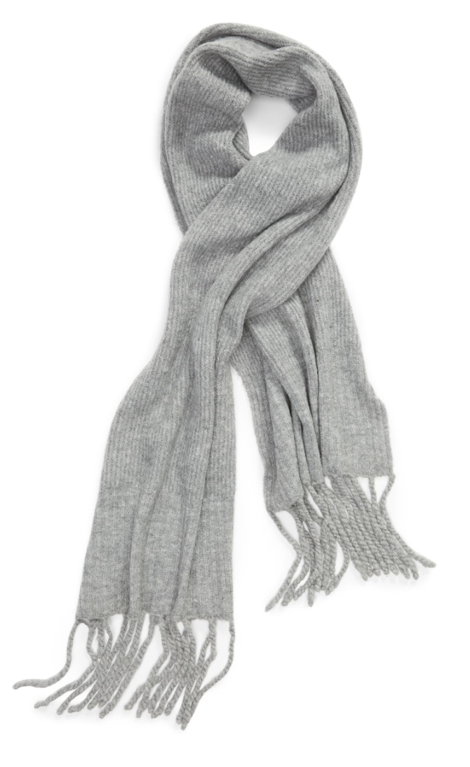 10. Free People Jaden Rib Knit Blanket Scarf