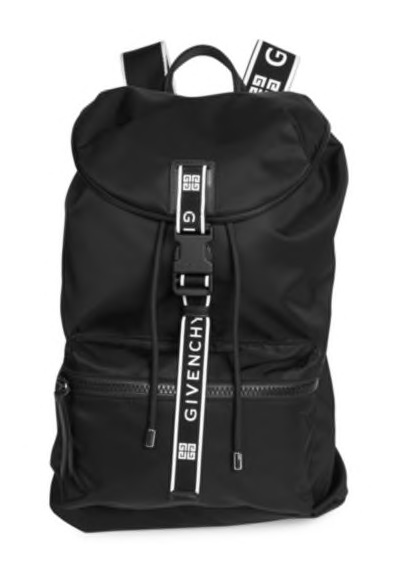 10. Givenchy Logo Backpack
