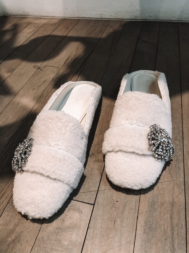 tibi fall winter 20 shearling shoes