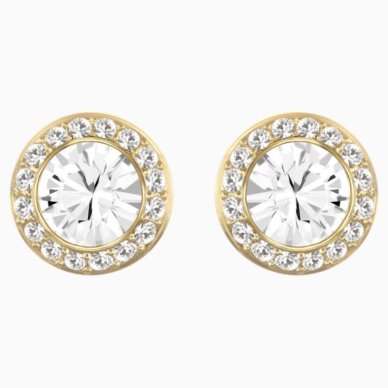 gold stud earrings with halo