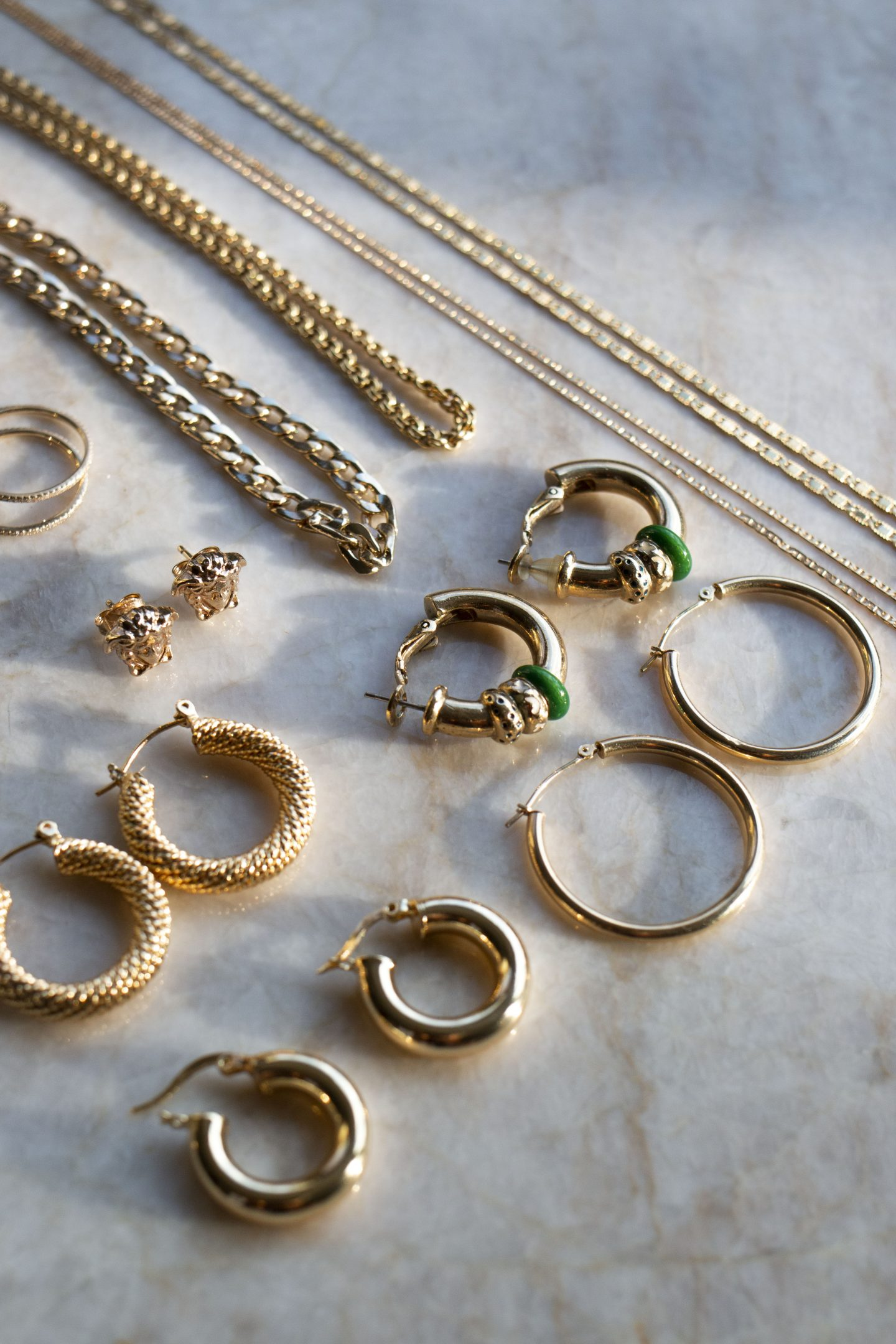 trendy gold accessories