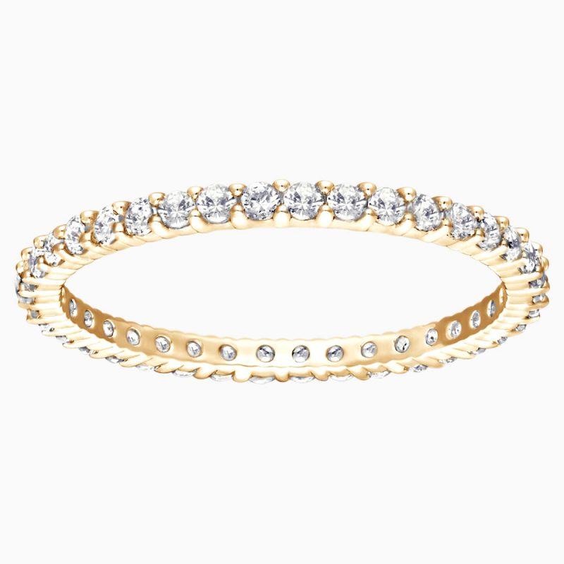 delicate gold diamond band