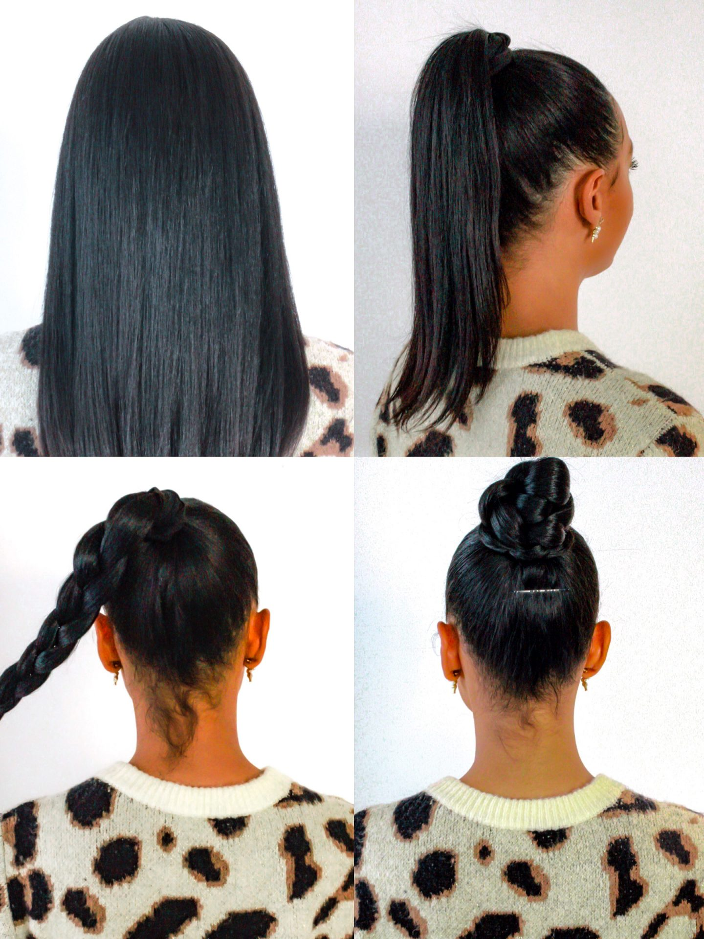 top knot hair style steps