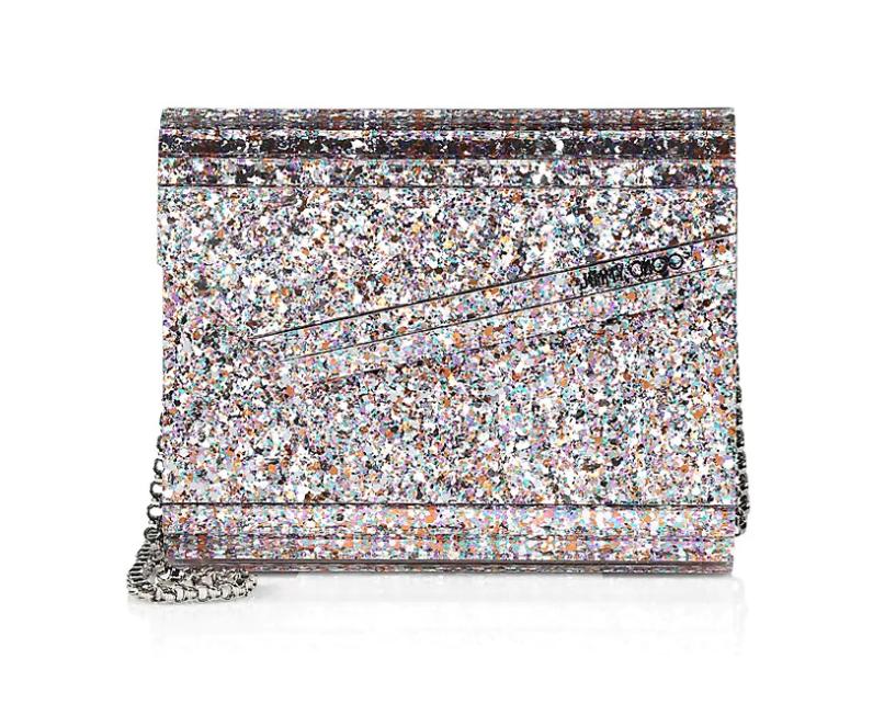 glittery clutch purse
