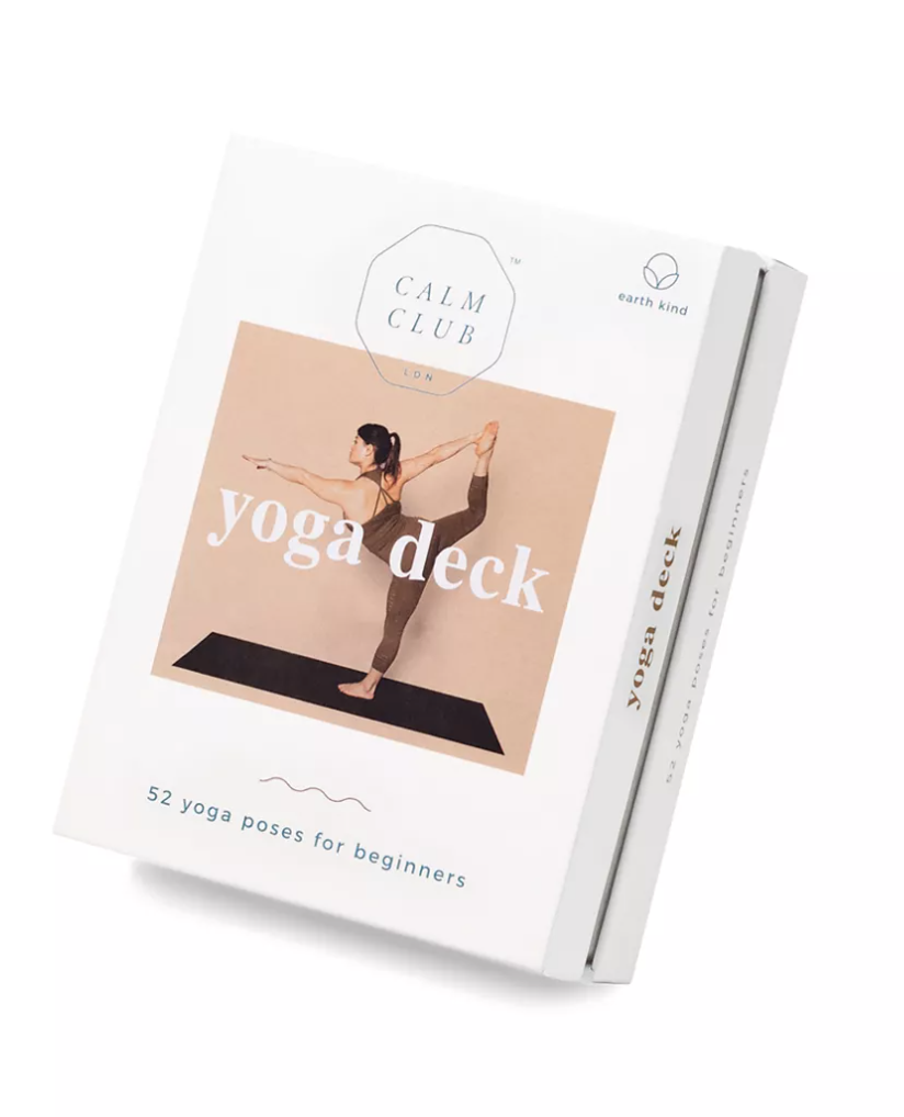 calm club deck of 52 yoga pose cards