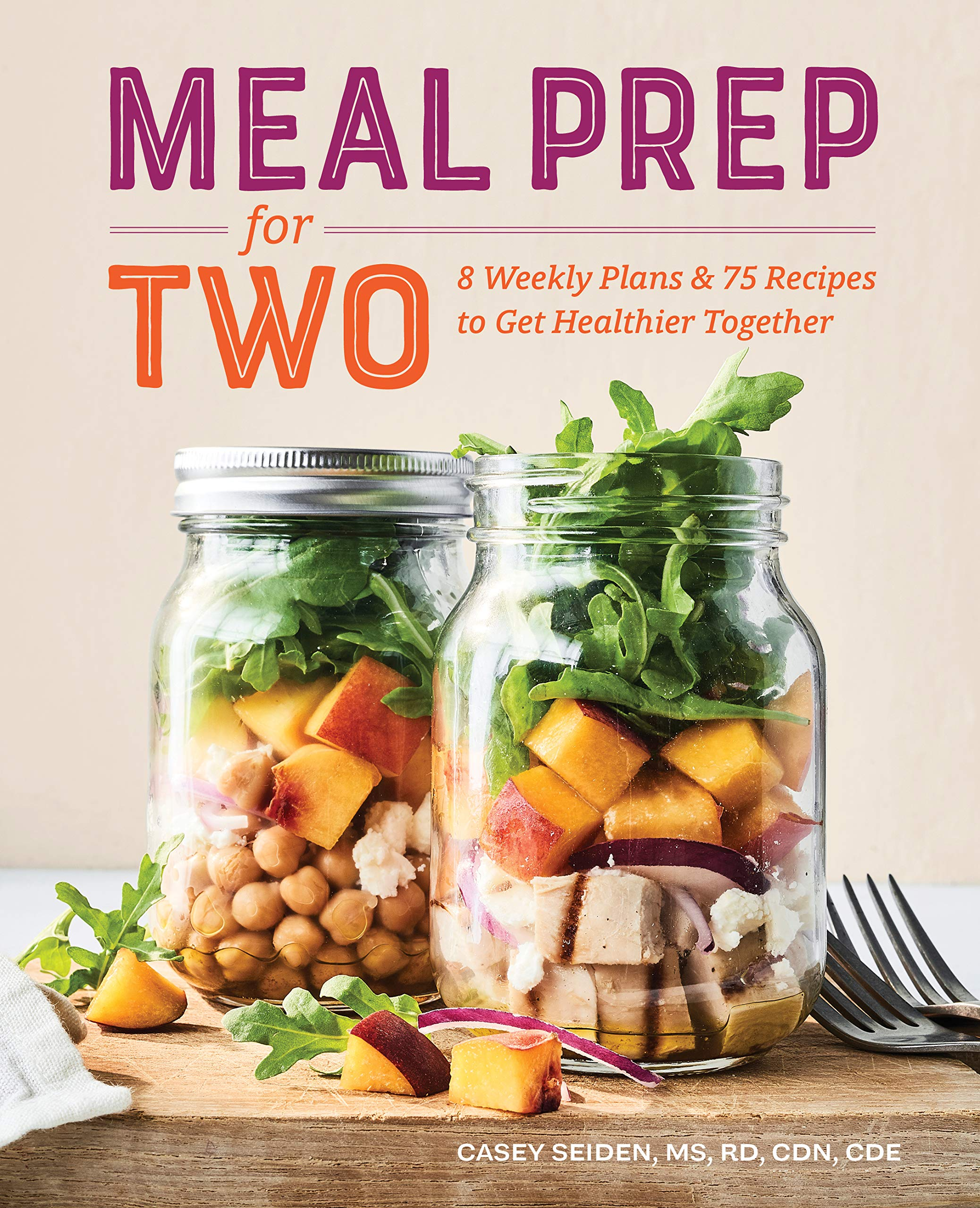 meal prep for two book cover