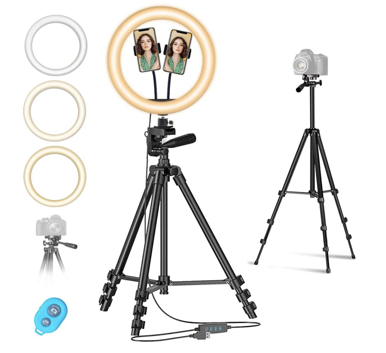 Ring light tripod set