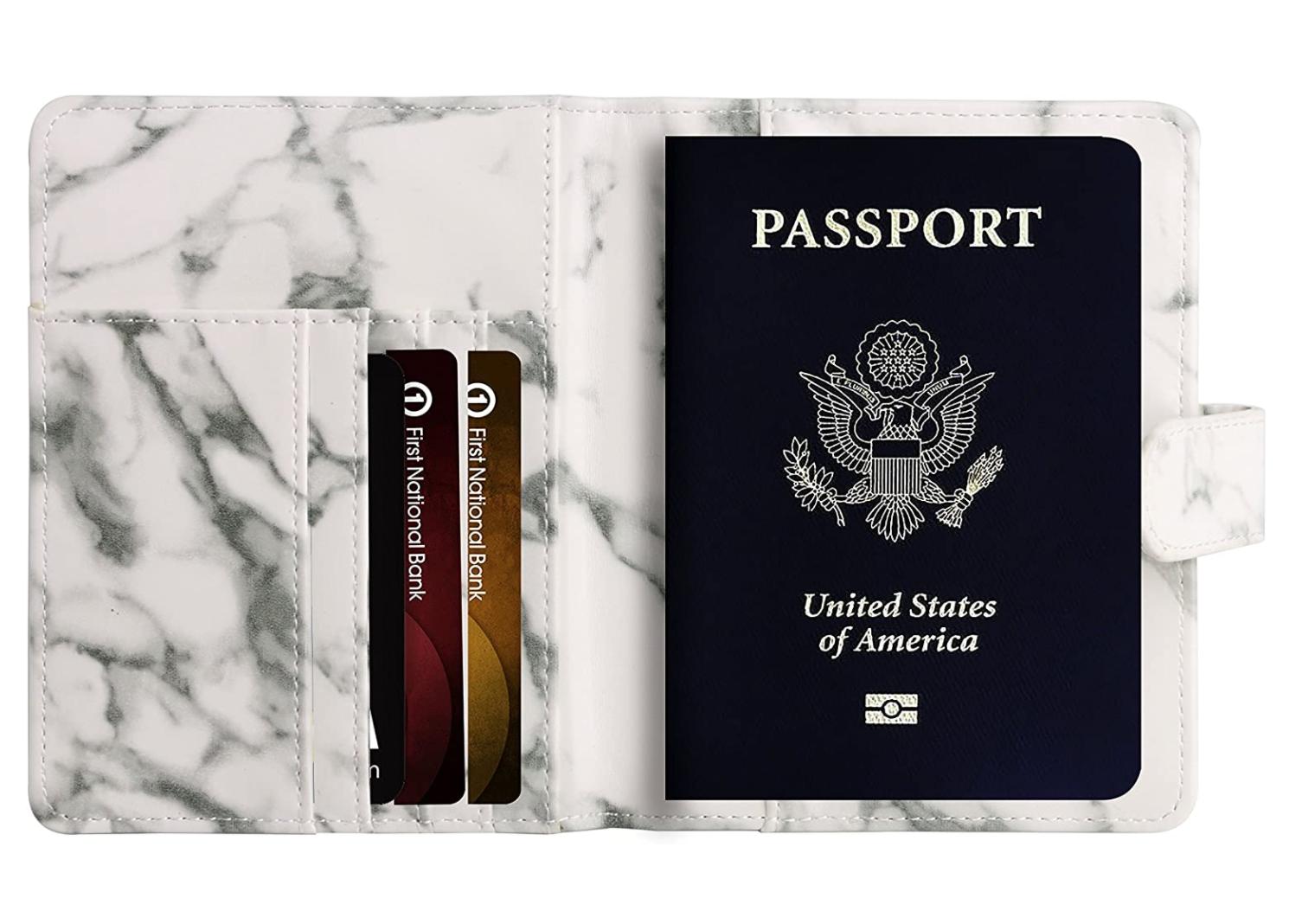 marble design passport holder