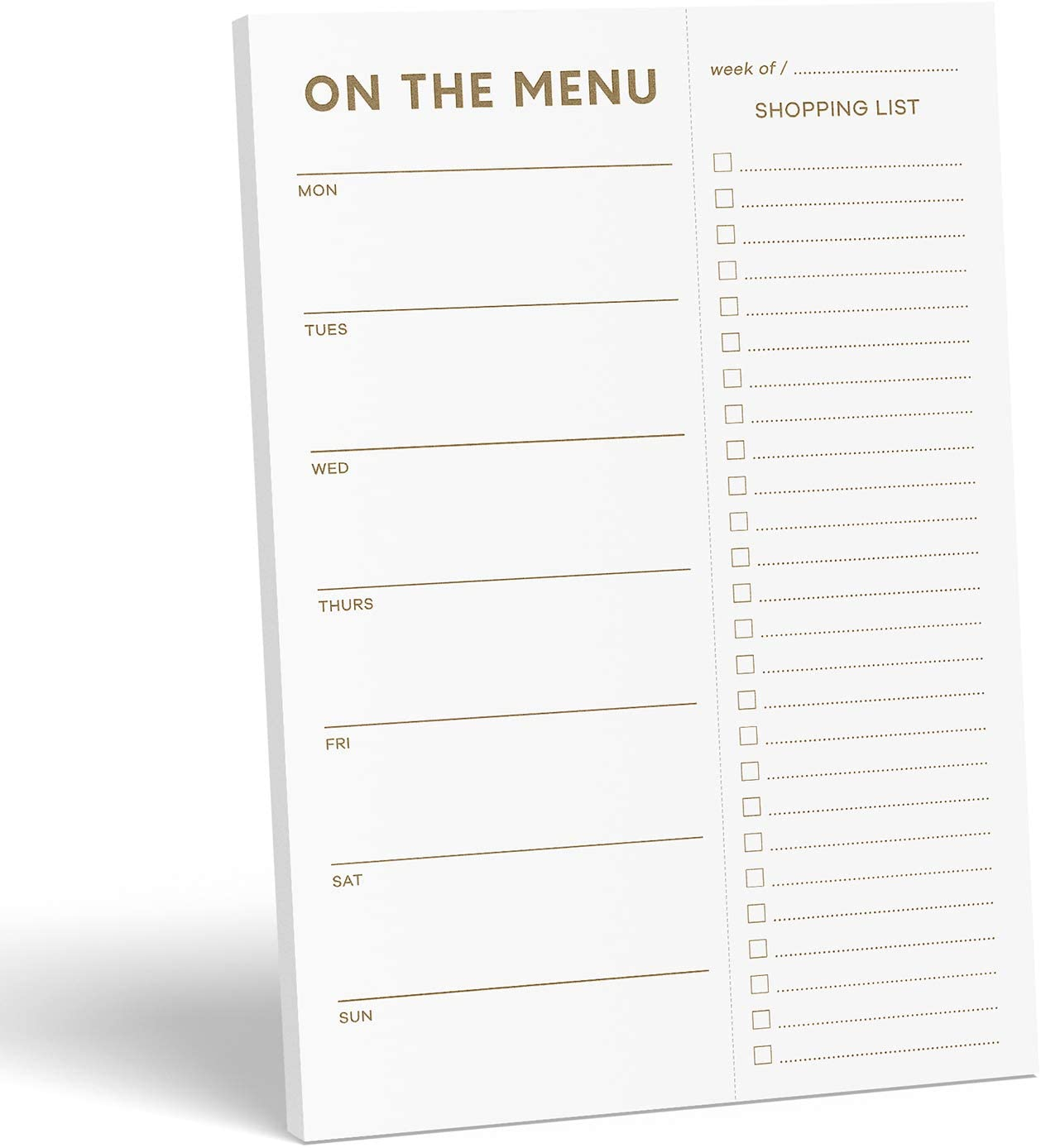 magnetic meal planner note pad