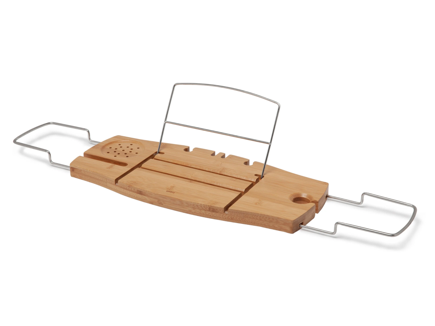 umbra bamboo bath tray caddy