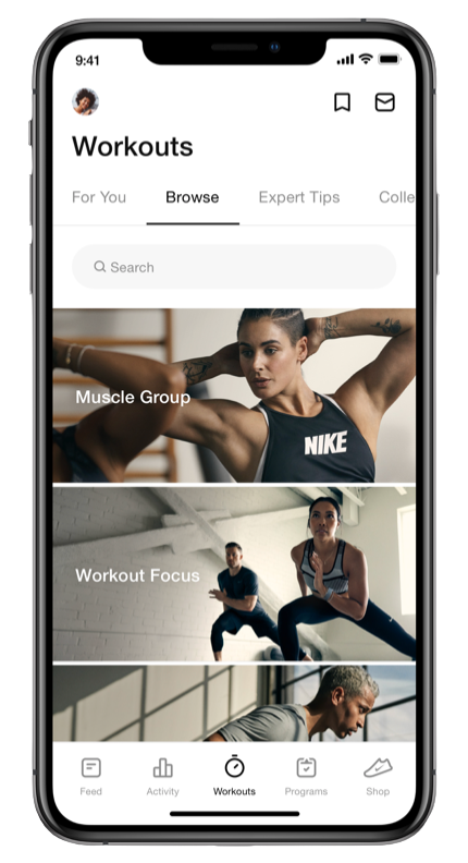 Nike Training Club at home workouts