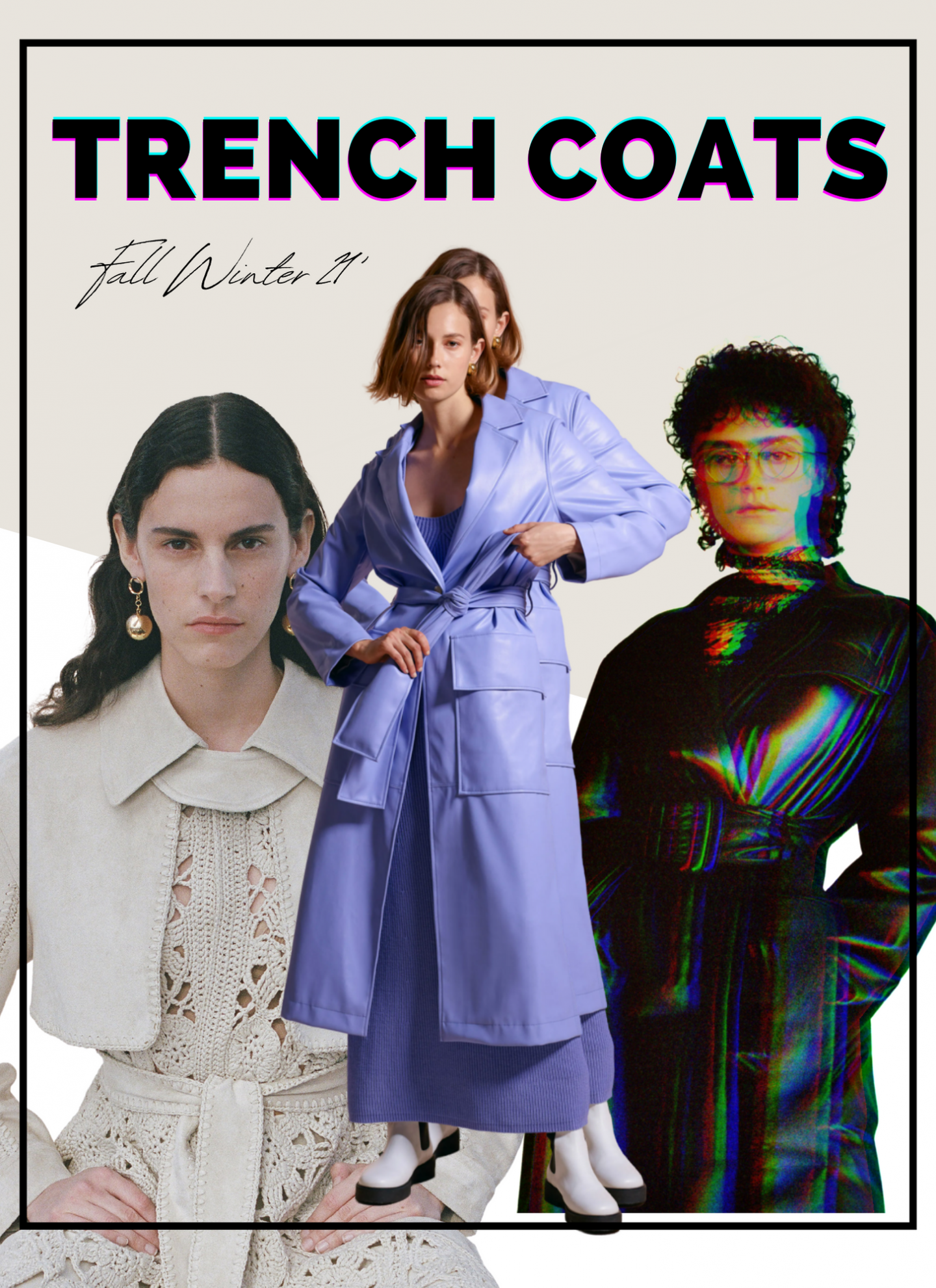 trench coat collage