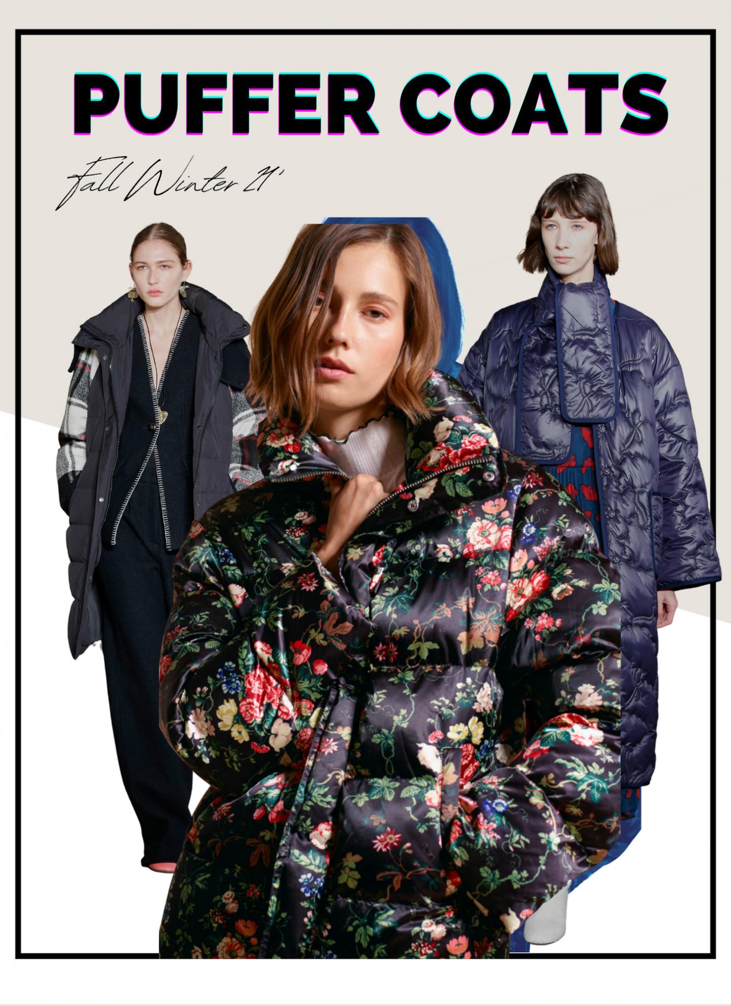 puffer coat collage