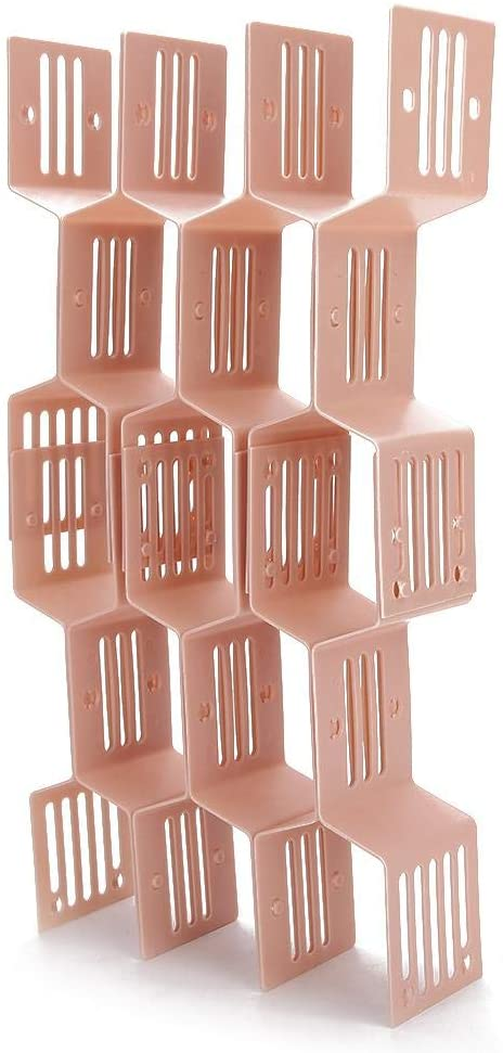 pink honey comb shaped drawer divider