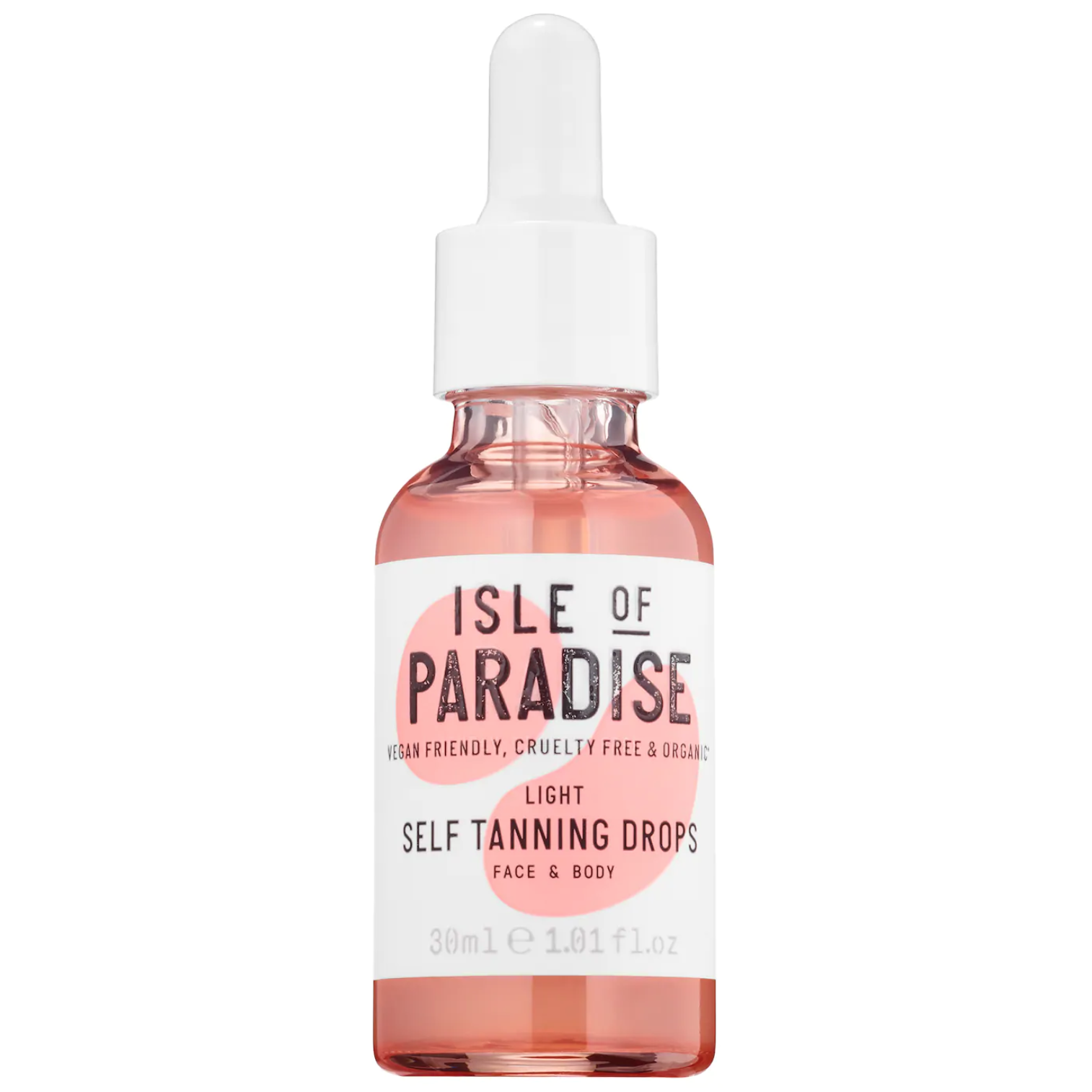 bottle of self tanning drops