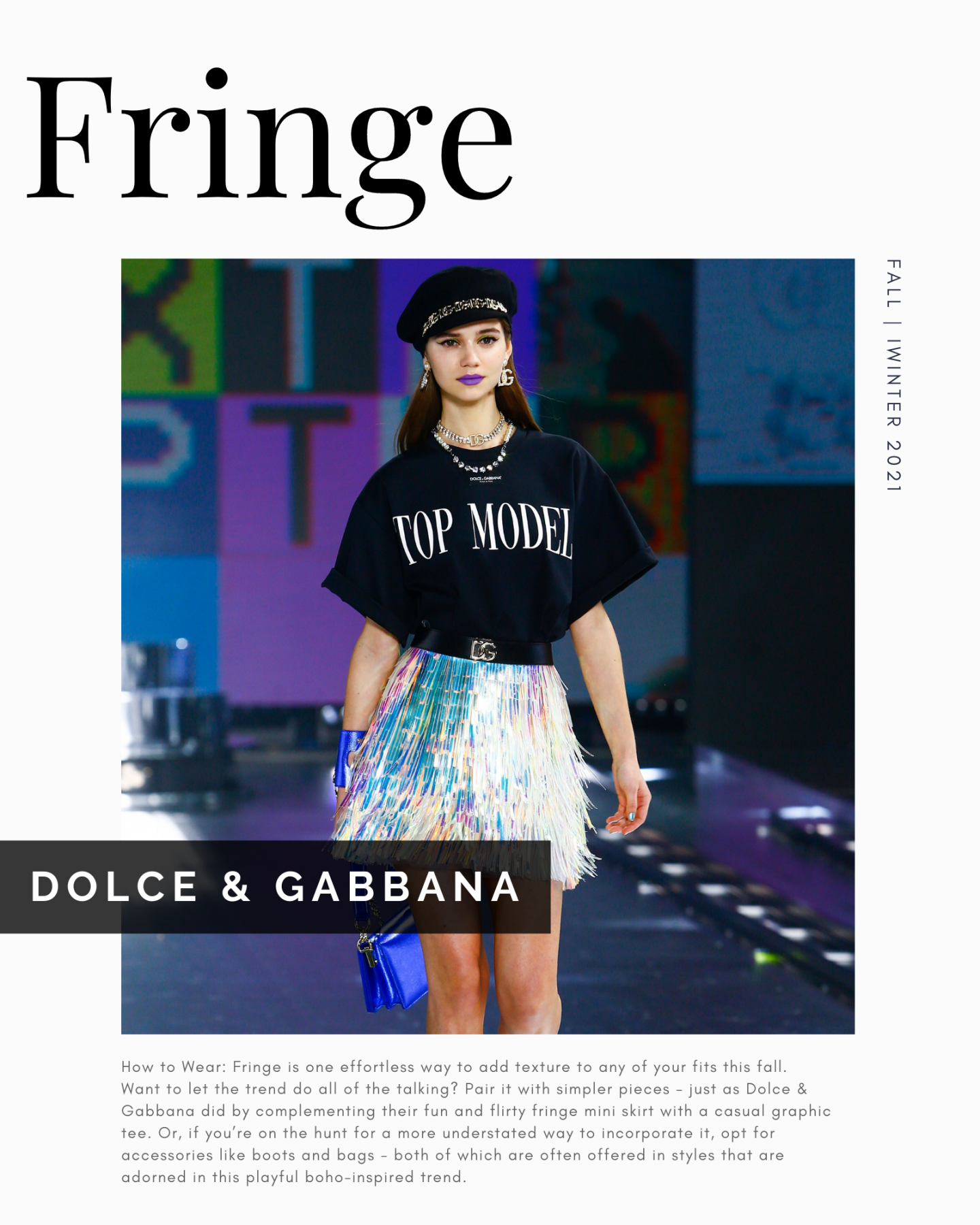 Dolce and Gabbana Fall Winter 2021 Look