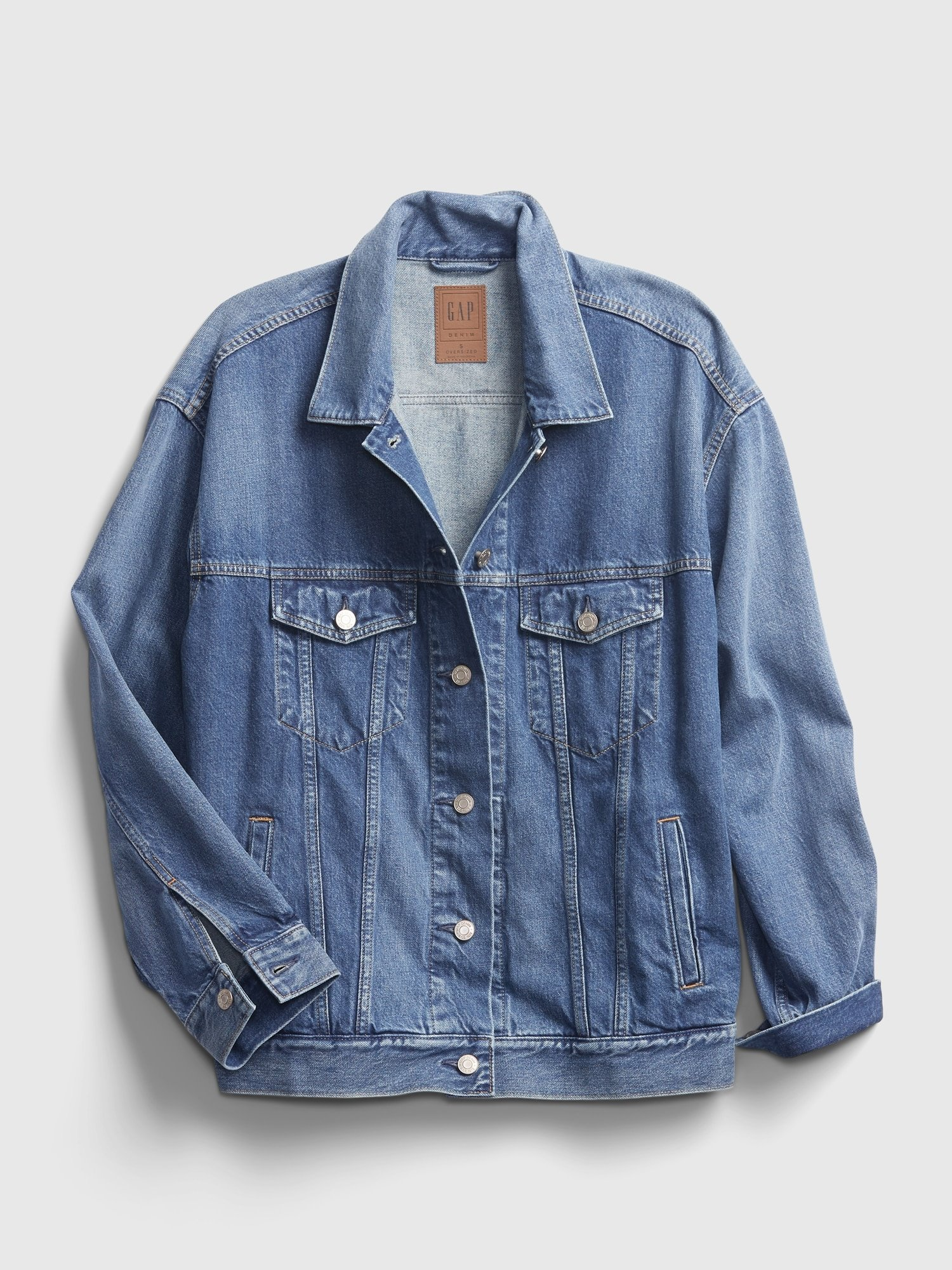 oversized denim gap jacket