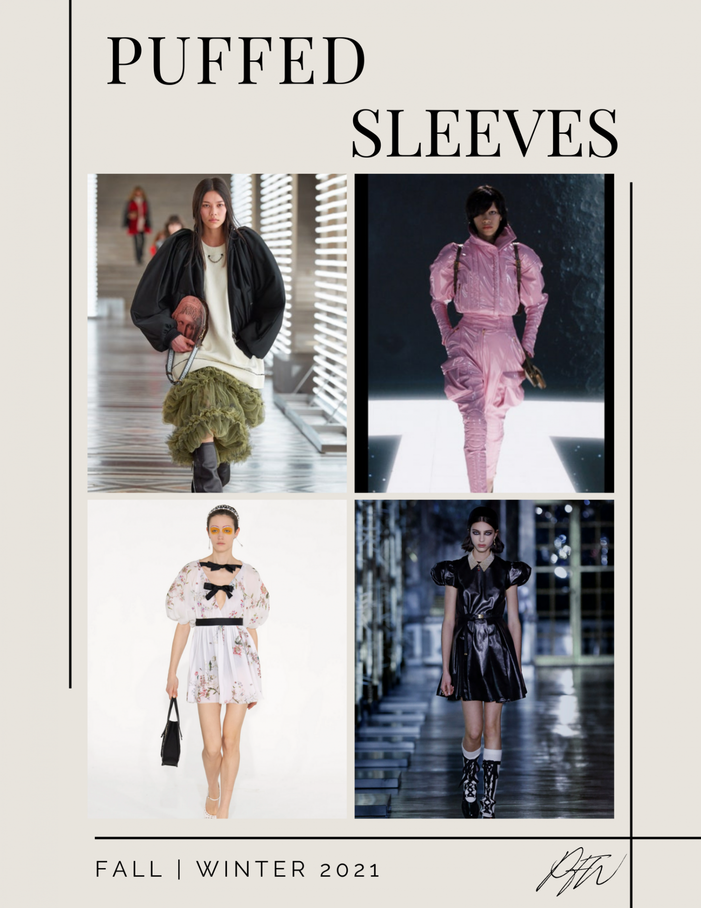 Paris Fashion Week Fall Winter Puffed Sleeves Looks