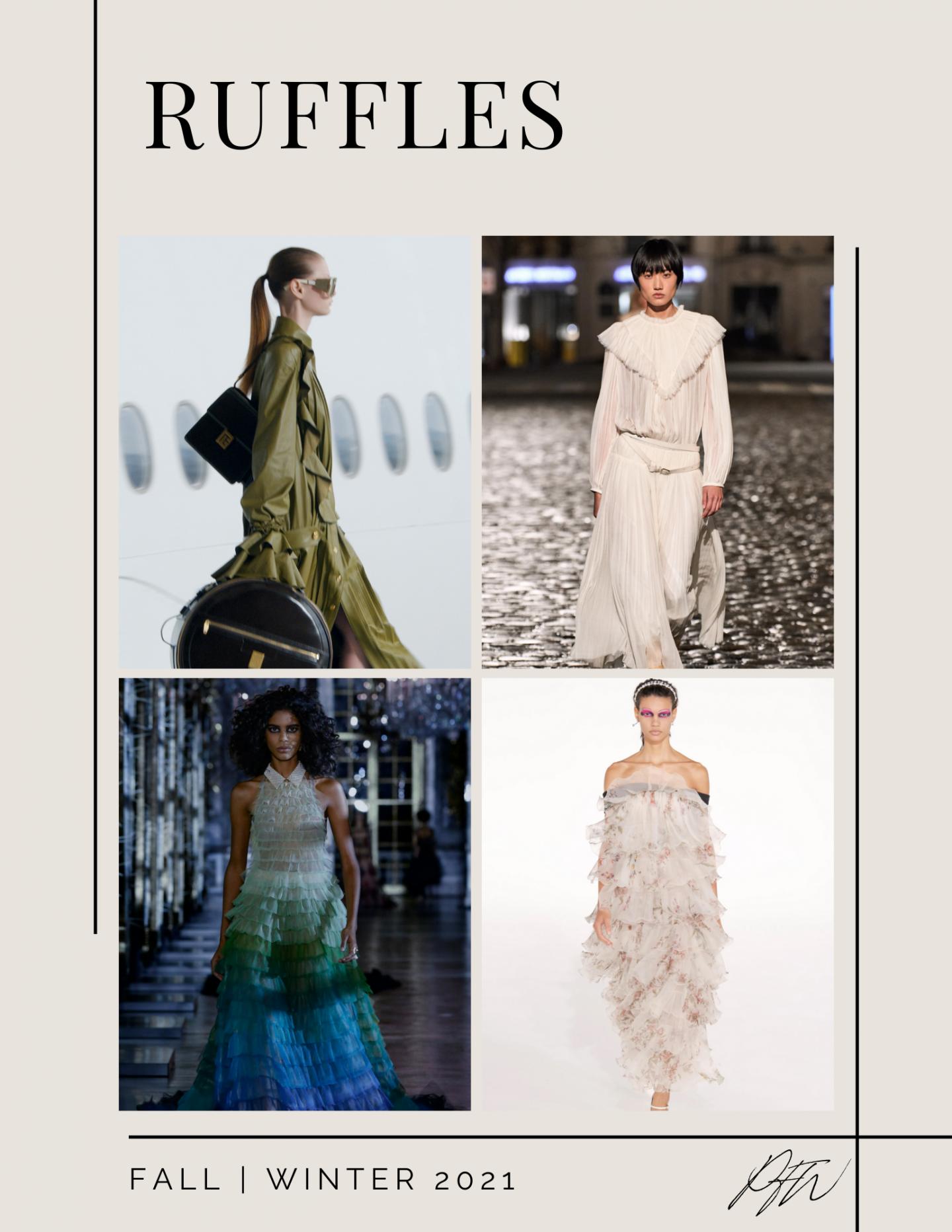 Paris Fashion Week Fall Winter Ruffles Looks