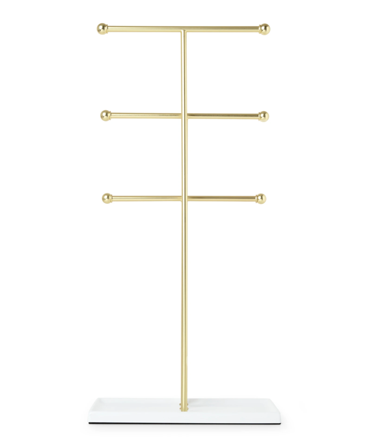 gold jewelry t stand with 3 bars