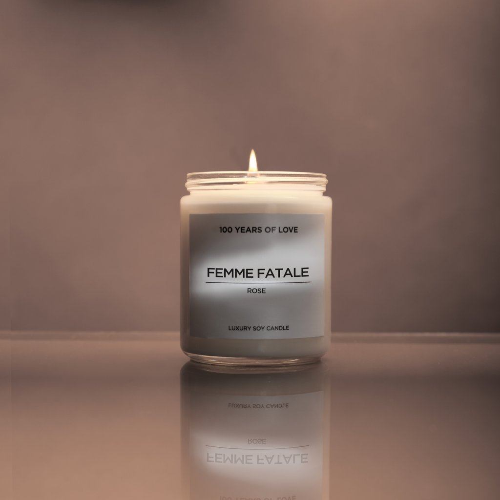 100 years of love femme fatale candle