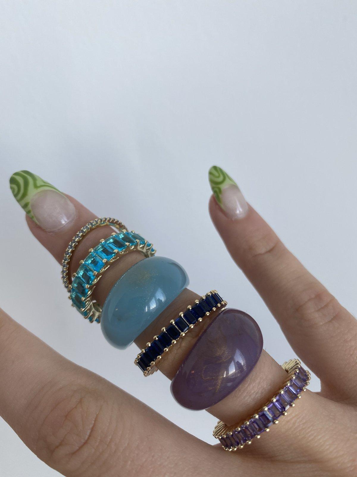 Evry Jewels Aquamarine Ring