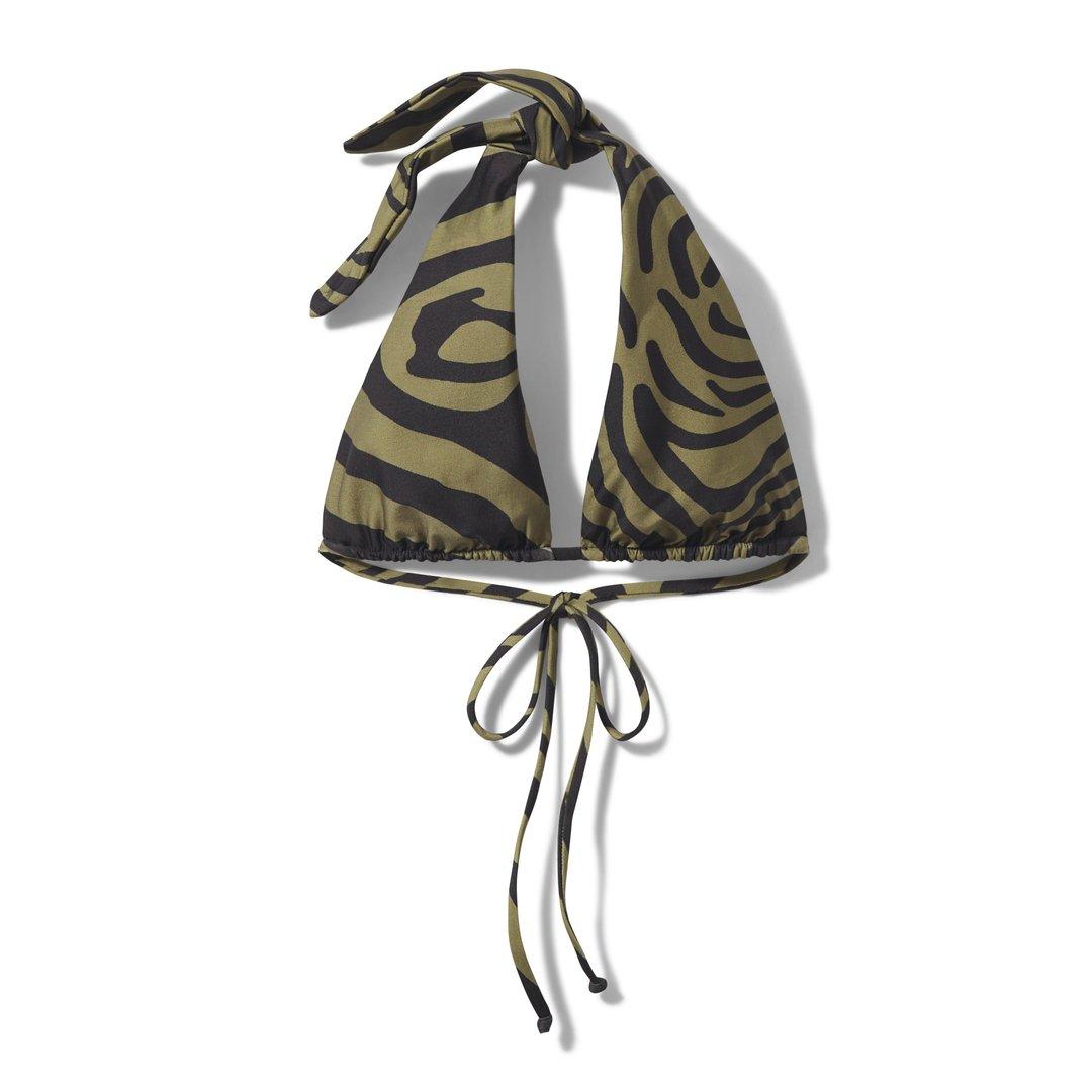 Inamorata Neptune Top in Olive Zebra