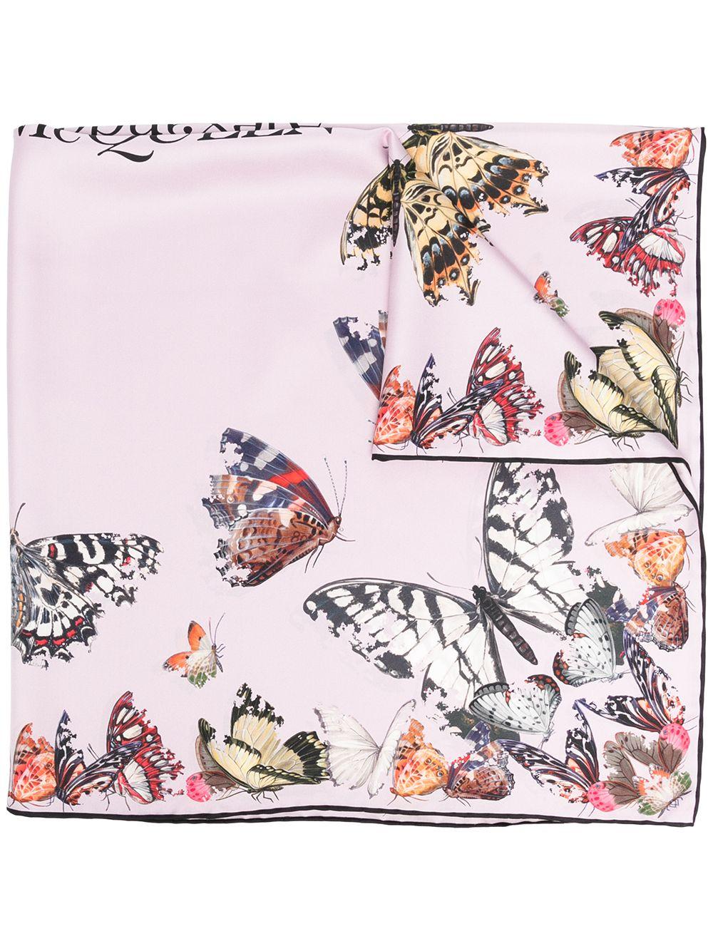 alexander mcqueen silk butterfly decay scarf