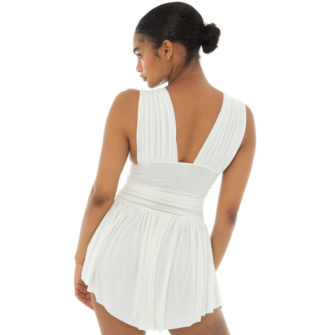 are you ami taela shoulder tie dress