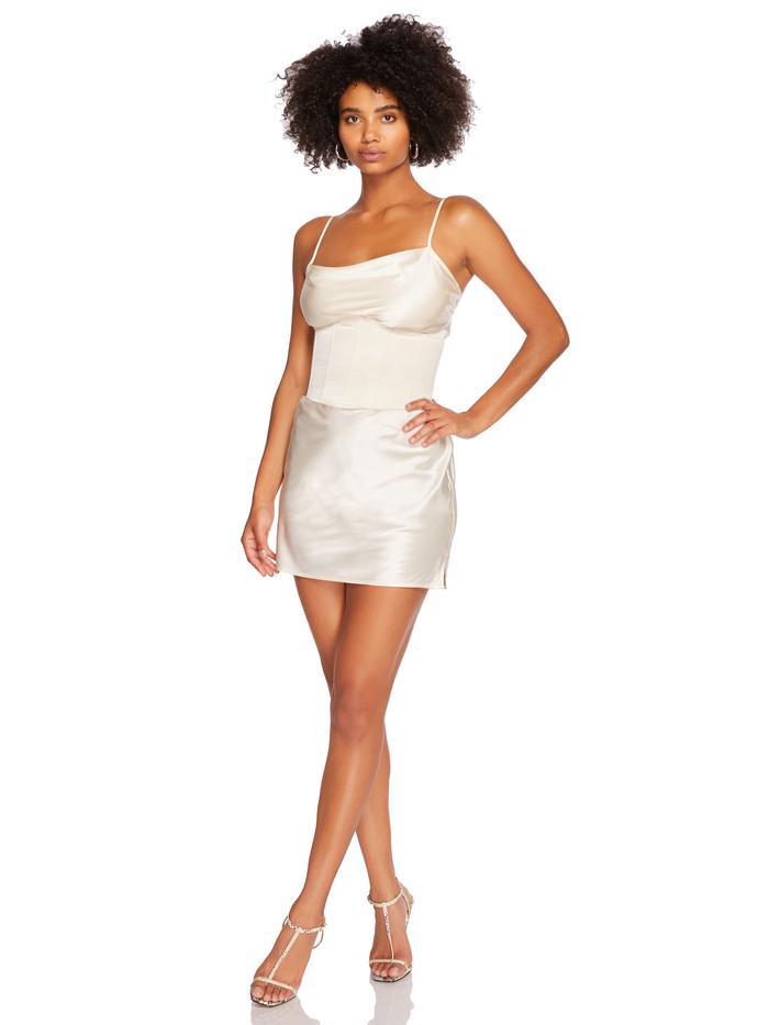 steele corset slip dress