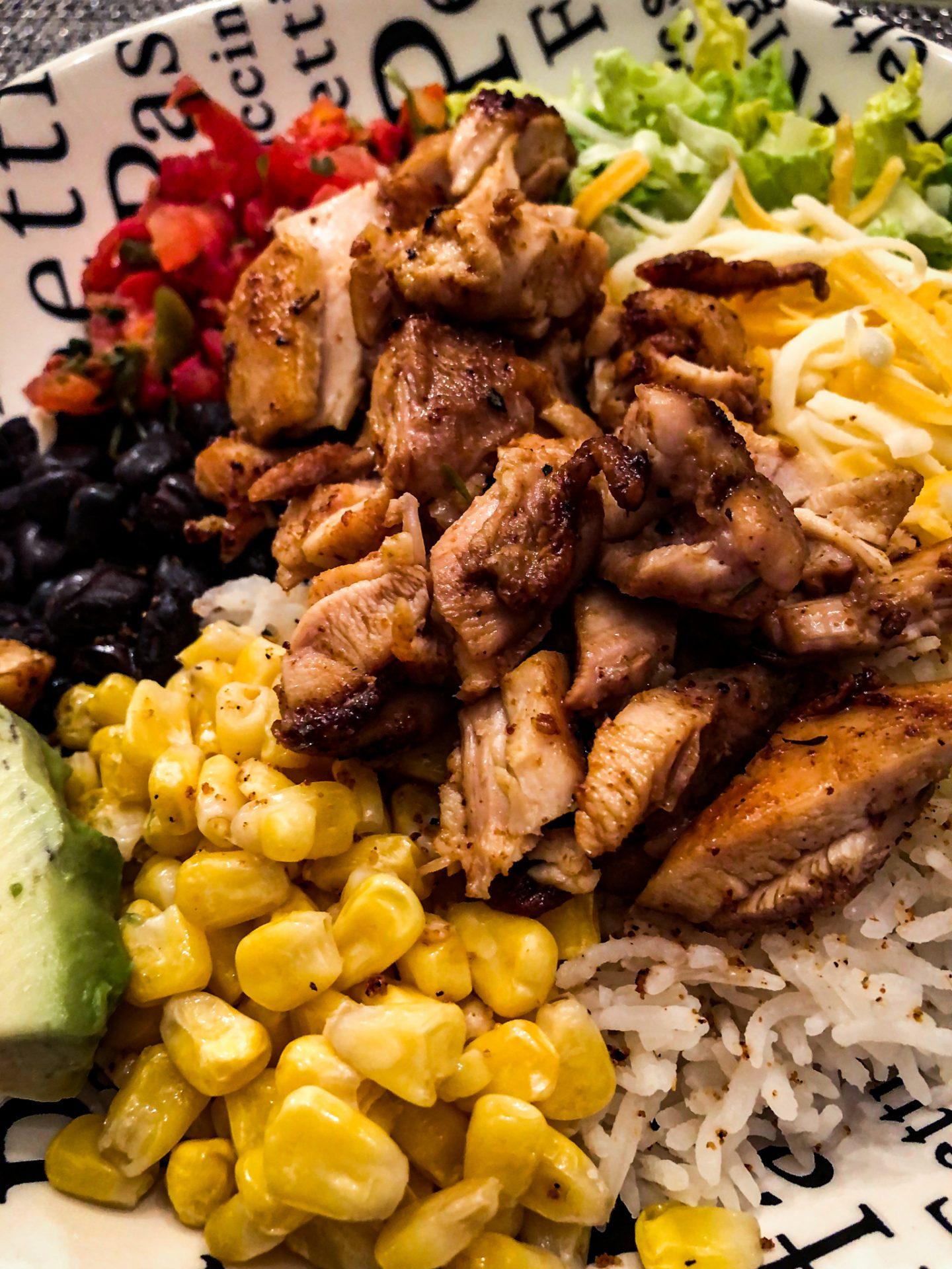 chipotle chicken bowl