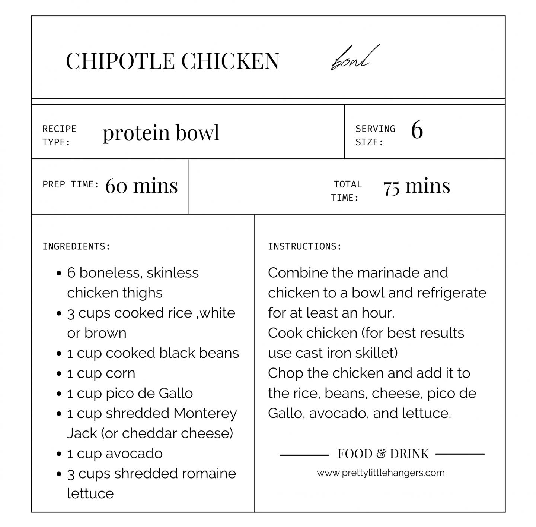 chipotle chicken bowl recipe