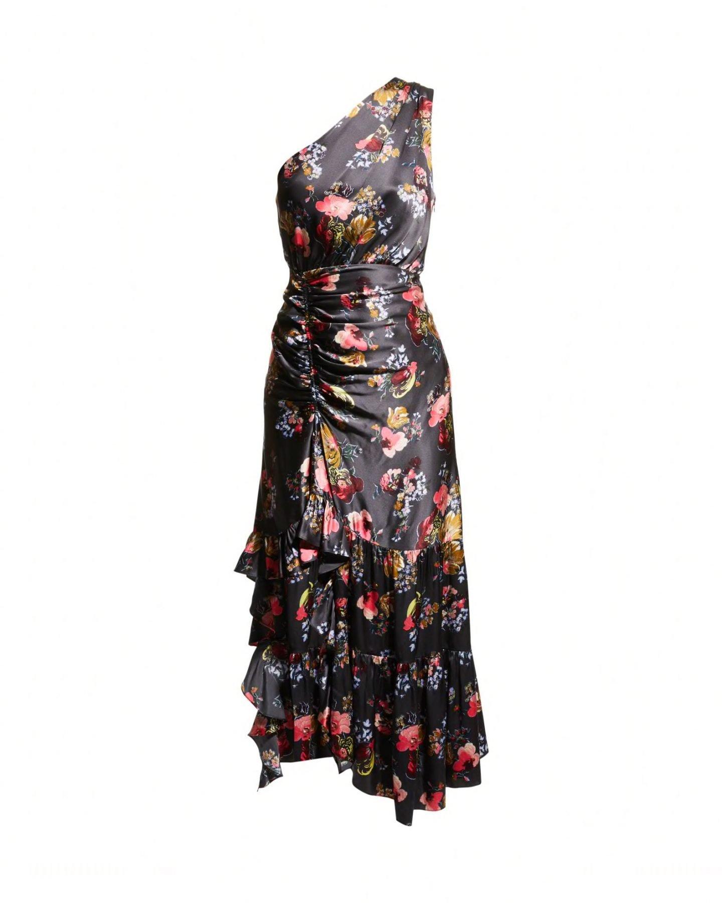 cinq a sept kayleigh one shoulder dress