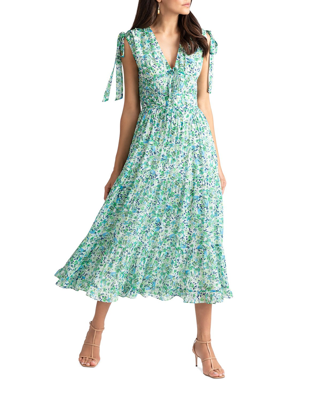 shoshanna helena misty floral dress