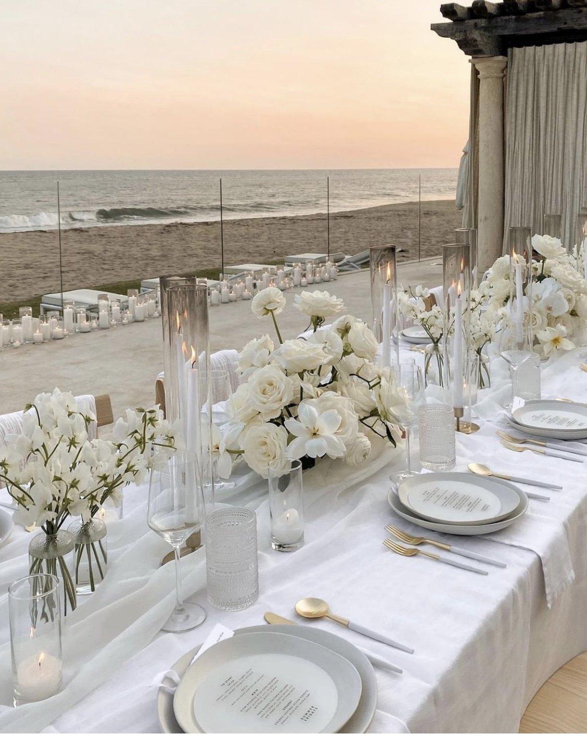 ocean view tablescape