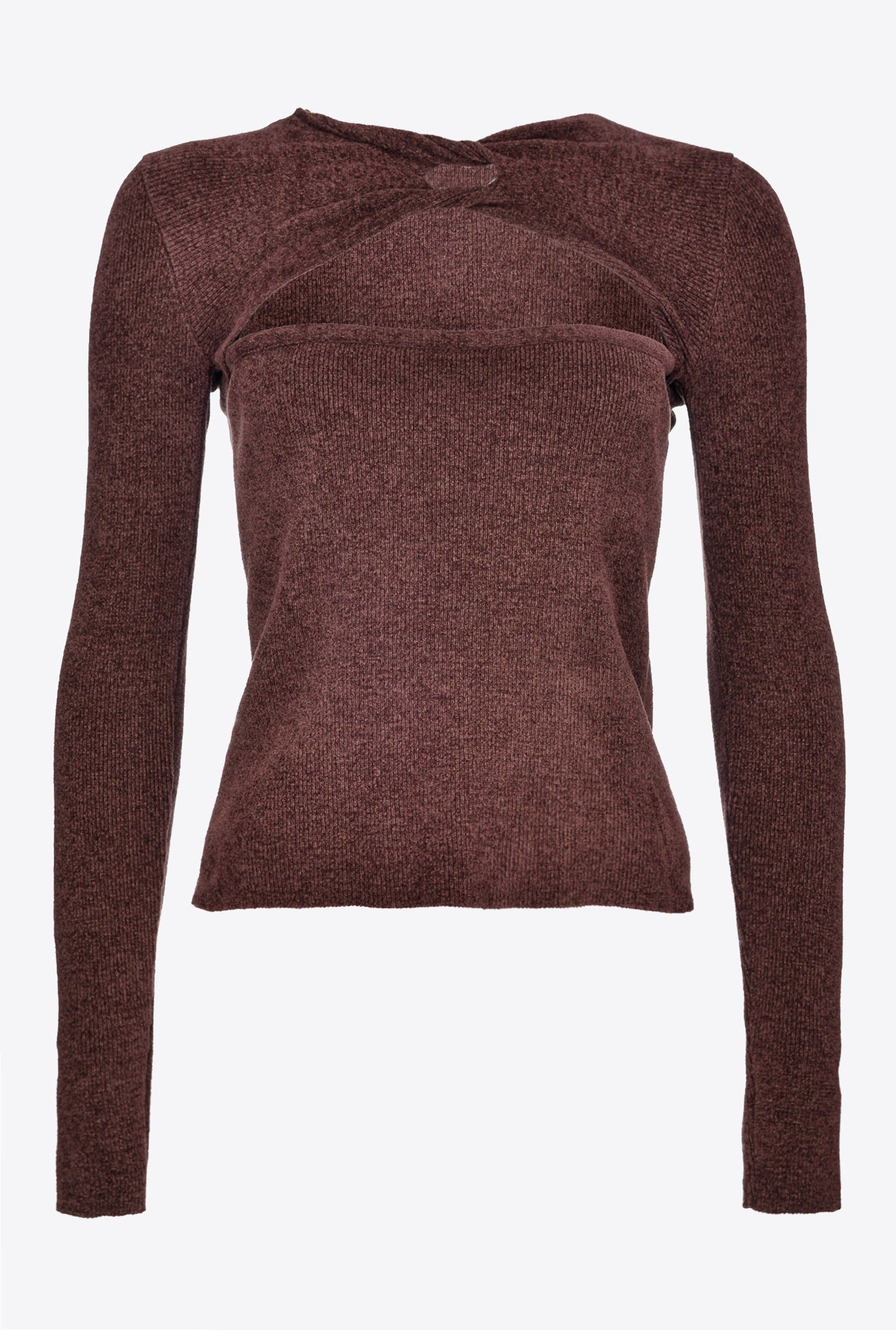 pinko chenille sweater with opening